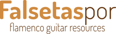 Logo de Falsetaspor.com. Flamenco guitar resources